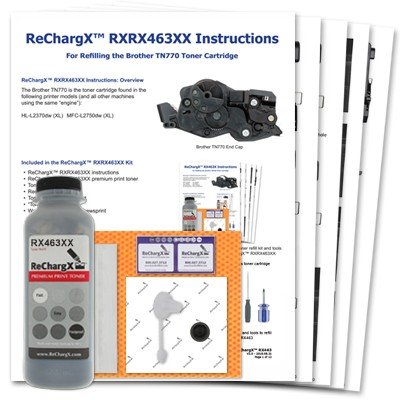 ReChargX® Brother TN770 Extra High Yield Toner Refill Kit