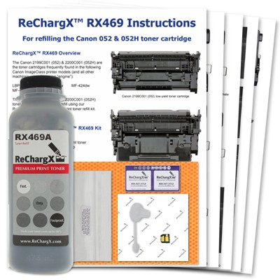 ReChargX® Canon 2199C001 (052) standard-yield toner refill kit