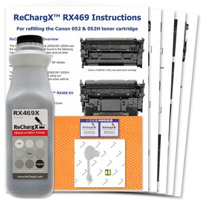 ReChargX® Canon 2200C001 (052H) high-yield toner refill kit