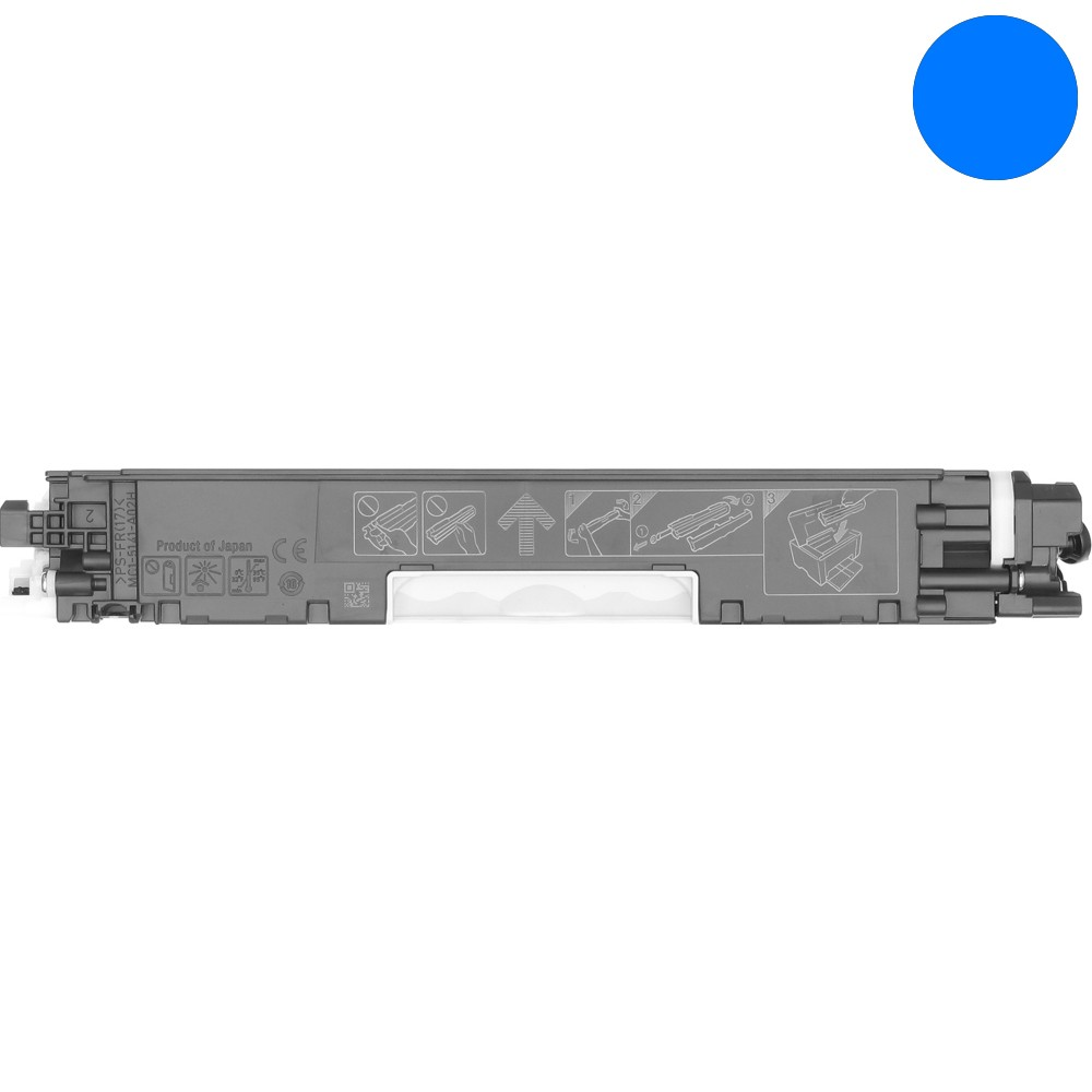 Empty Cyan Toner Cartridge