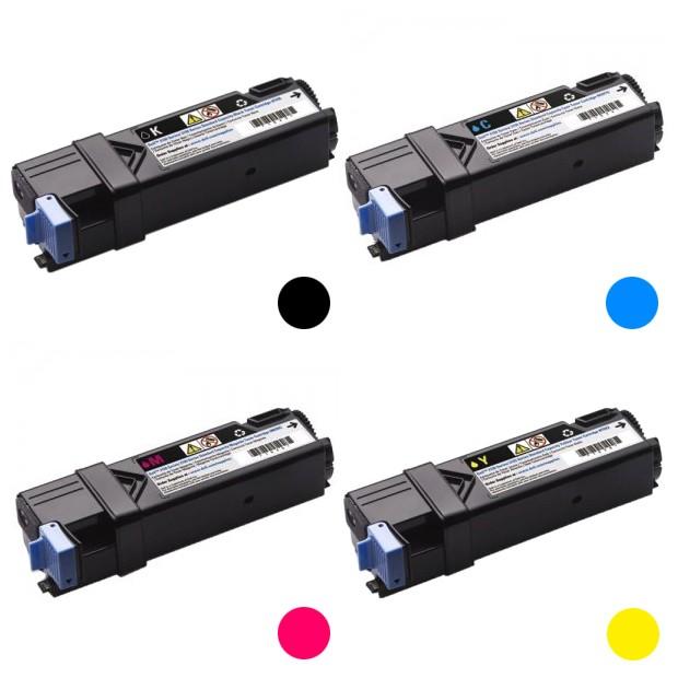Compatible B/C/M/Y Toner Cartridges (4 Pack)