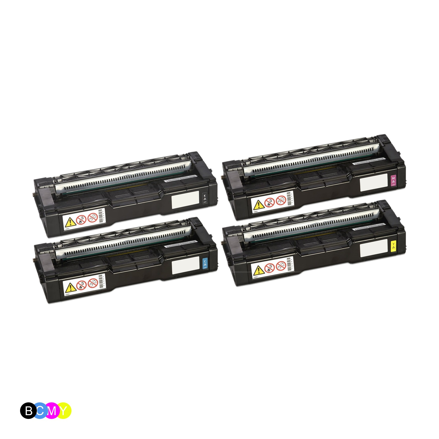 ReChargX Ricoh 4075XX Series Toner Cartridges (4 Pack)