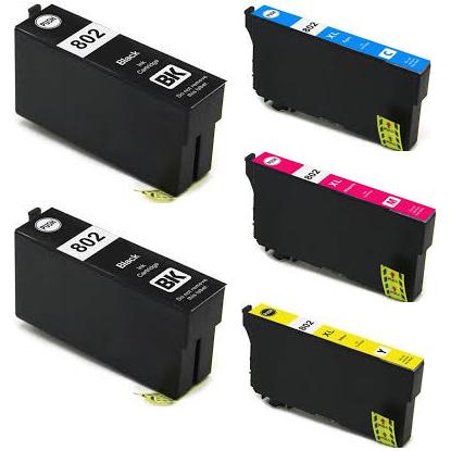 ReChargX Epson 802 Black Cyan Magenta & Yellow Yield Inkjet Cartridges